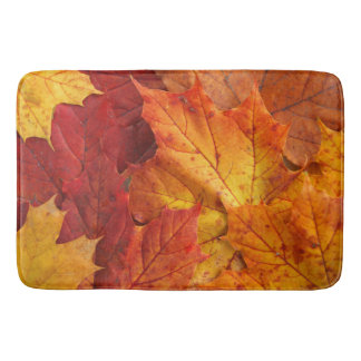 autumn leaves bath mats