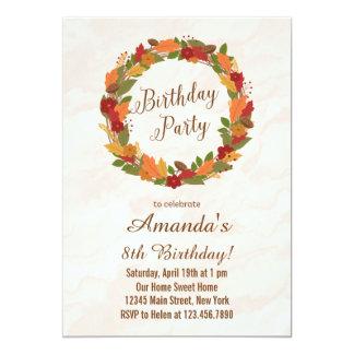 Autumn Leaves Birthday Invitation