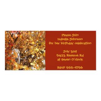 Autumn Leaves Birthday Invitations