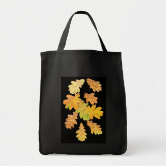 'Autumn Leaves' Black Tote Bag