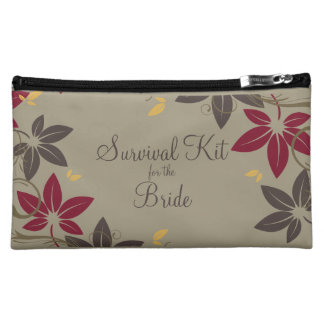 Autumn Leaves Bride Survival Kit Cosmetic Bags