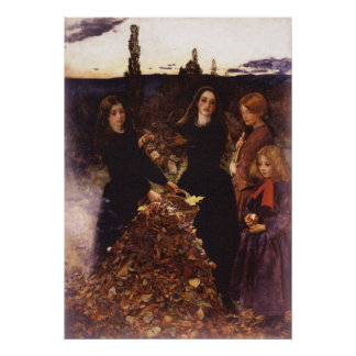 Autumn Leaves by John Everett Millais Poster