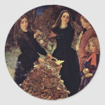 Autumn Leaves By Millais John Everett Round Sticker