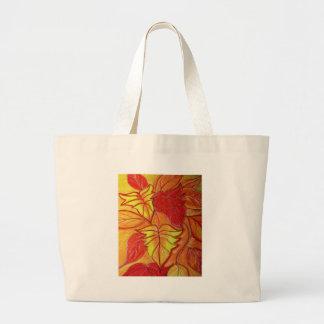 autumn leaves canvas bags