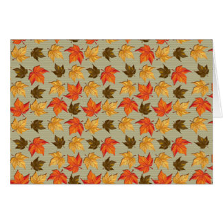 Autumn Leaves Card 1 Card