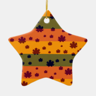 Autumn leaves christmas ornament