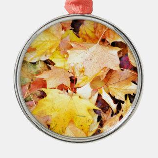 Autumn leaves christmas ornament