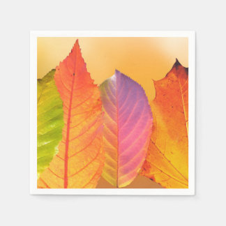 Autumn Leaves Colorful Modern Fine Art Photography Paper Napkin