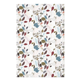 Autumn leaves cool breeze stationery design