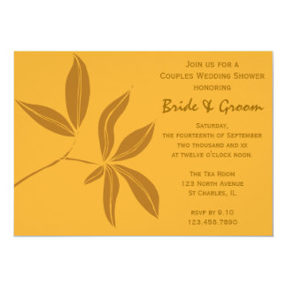 Autumn Leaves Couples Wedding Shower 13 Cm X 18 Cm Invitation Card