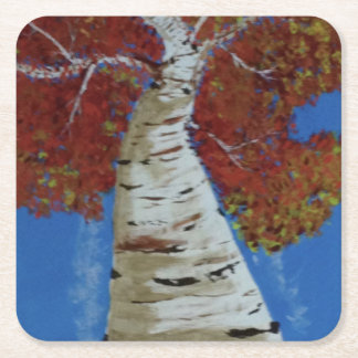 'Autumn leaves' Custom Square Coasters