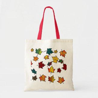 autumn leaves design bag