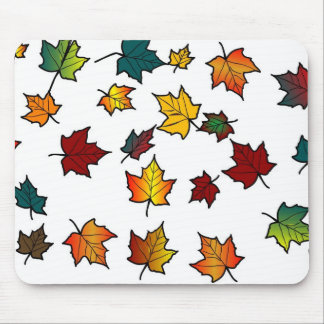 autumn leaves design mousepads