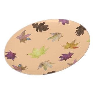 Autumn Leaves Dinner Plate