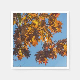 Autumn leaves disposable napkins