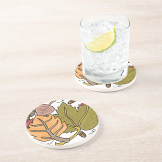 autumn leaves drink coasters