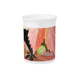 autumn leaves drink pitcher