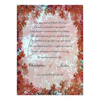 Autumn Leaves elopement announcement