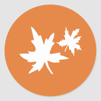 Autumn Leaves Envelope Sticker Seal