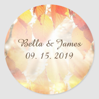 Autumn Leaves Fall Wedding Stickers