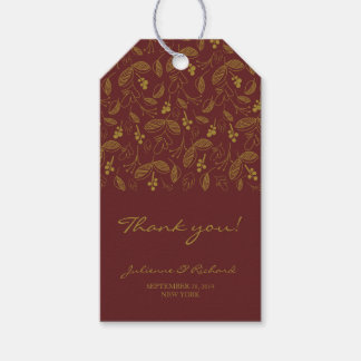 Autumn Leaves Fall Wedding Thank You Gift tags