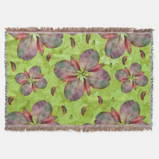 Autumn Leaves Falling Throw Blanket