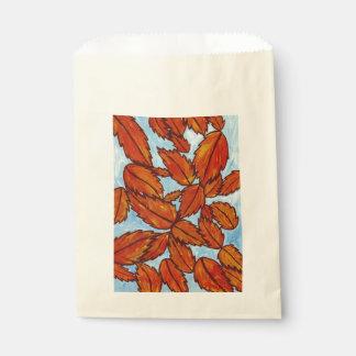 Autumn leaves favour bag