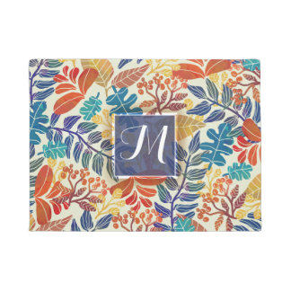 Autumn Leaves Fine Floral Background Doormat