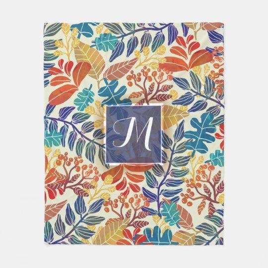 Autumn Leaves Fine Floral Background Fleece Blanket