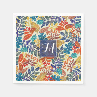 Autumn Leaves Fine Floral Background Paper Napkins