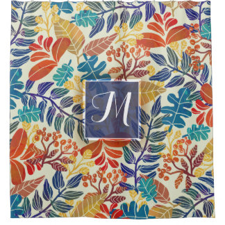 Autumn Leaves Fine Floral Background Shower Curtain