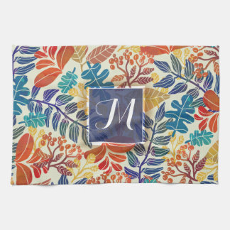 Autumn Leaves Fine Floral Background Towel
