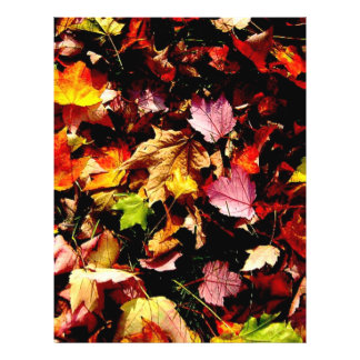 Autumn leaves flyer