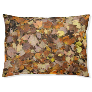 Autumn Leaves Forest Floor. Pet Bed