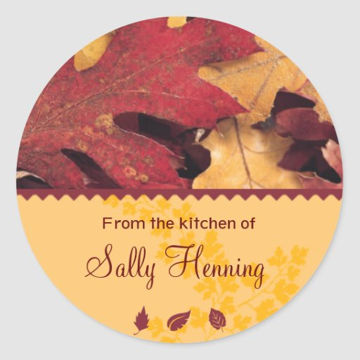 Autumn Leaves From the Kitchen Sticker