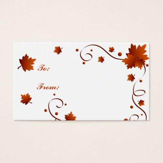 Autumn leaves - Gifttag Business Card