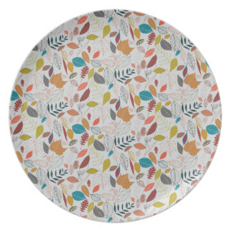 Autumn leaves golden sun party plate