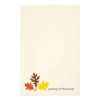Autumn Leaves Greetings of the Season Stationery
