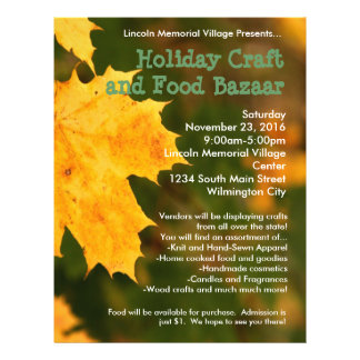 Autumn Leaves Holiday Craft Bazaar Flyer