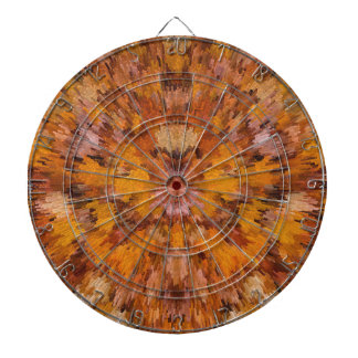 Autumn leaves in abstract dartboard