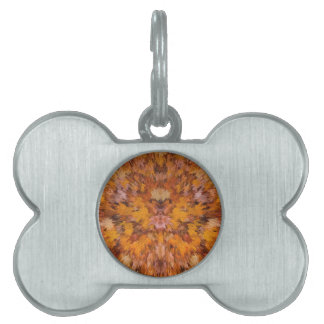 Autumn leaves in abstract pet ID tag