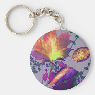 Autumn Leaves in Lilac Key Chain