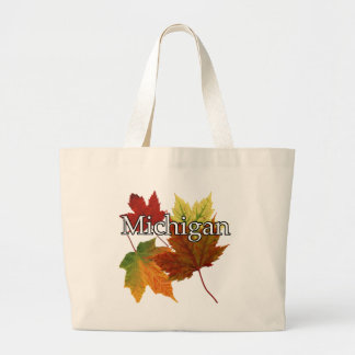 AUTUMN LEAVES IN MICHIGAN LARGE TOTE BAG