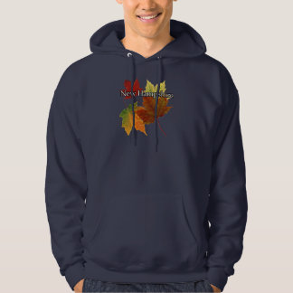 AUTUMN LEAVES IN NEW HAMPSHIRE HOODIE