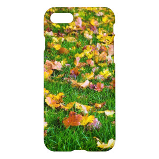 Autumn Leaves in the Green Grass iPhone 7 Case