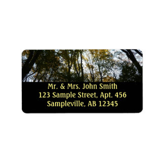 Autumn Leaves in the Morning I Maryland Nature Address Label