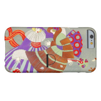 AUTUMN LEAVES IN THE WIND /BEAUTY FASHION MONOGRAM BARELY THERE iPhone 6 CASE