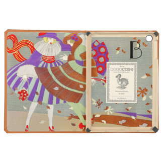 AUTUMN LEAVES IN THE WIND /BEAUTY FASHION MONOGRAM iPad AIR COVERS