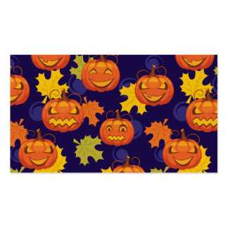 Autumn Leaves & Jack-O-Lanterns Pack Of Standard Business Cards