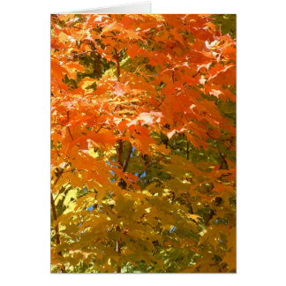Autumn Leaves Mix Greeting Card